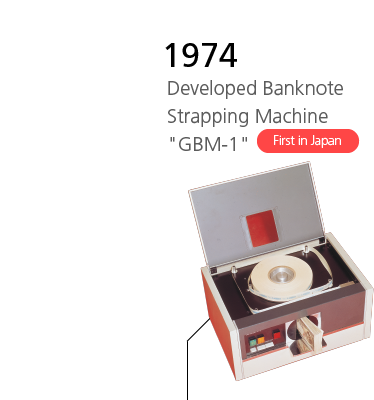 1974 Developed Banknote Strapping Machine 'GBM-1' First in Japan