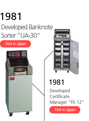 1981 Developed Banknote Sorter 'UA-30' First in Japan