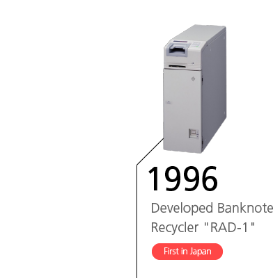 1996 Developed Banknote Recycler 'RAD-1' First in Japan