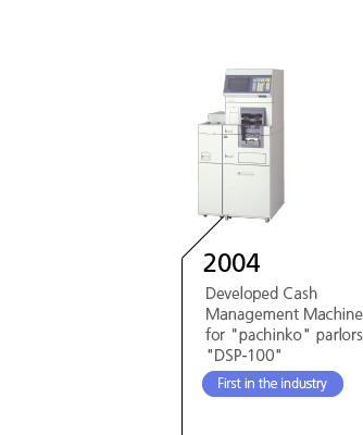 2004 Developed Cash Management Machine for 'pachinko' parlors 'DSP-100' First in the industry