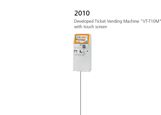 2010 Developed Ticket Vending Machine 'VT-T10M' with touch screen