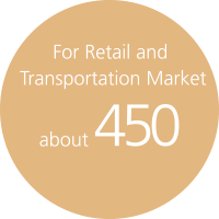 For Retail and Transportation Market about 250