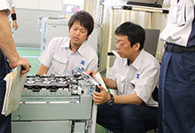 Quality inspection tour at Himeji Factory