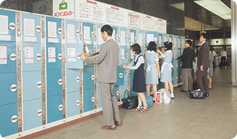 Coin-operated lockers installed in Shin-Osaka Station