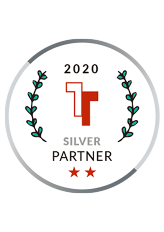 Silver partner badge