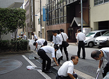 Cleanup by our Tokyo Regional Office