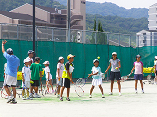 Tennis Clinic for elementary school students